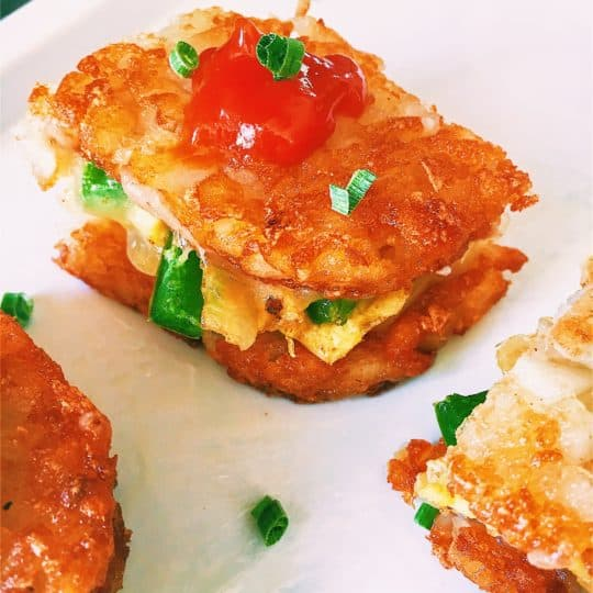 Mini Hash Brown Omelet Sandwiches