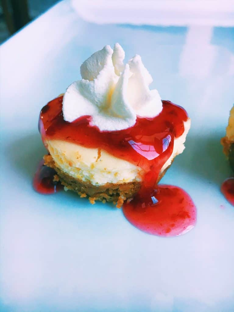 Mini Chambord Cheesecakes With Cookie Crust