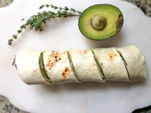 Turkey Avocado Roll Ups With Thyme Dressing