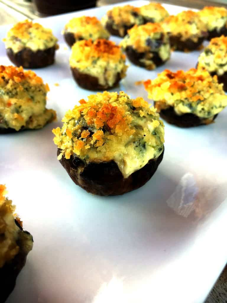 Mini Kale Stuffed Mushrooms 14