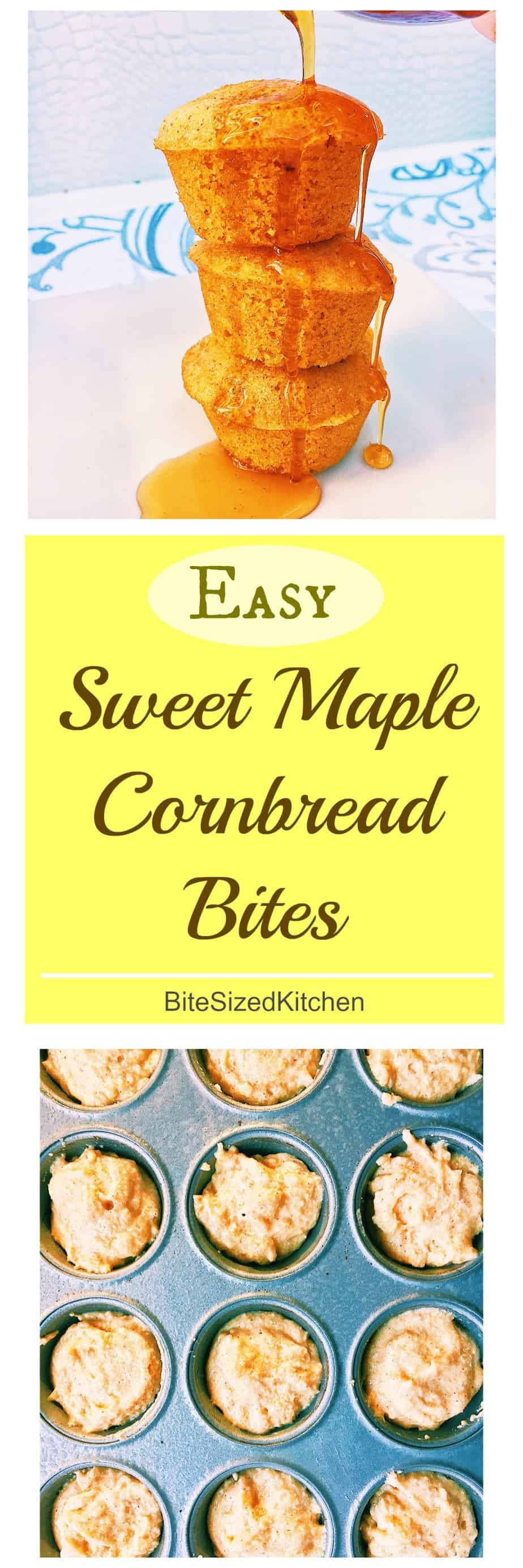 Easy Sweet Cornbread Recipe | Sweet cornbread muffins | Moist cornbread bites | Homemade cornbread muffins | self rising cornbread muffins | Moist cornbread bites recipe