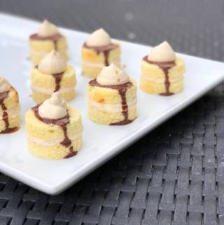 Easy NO BAKE Peanut Butter Pound Cake Petit Fours
