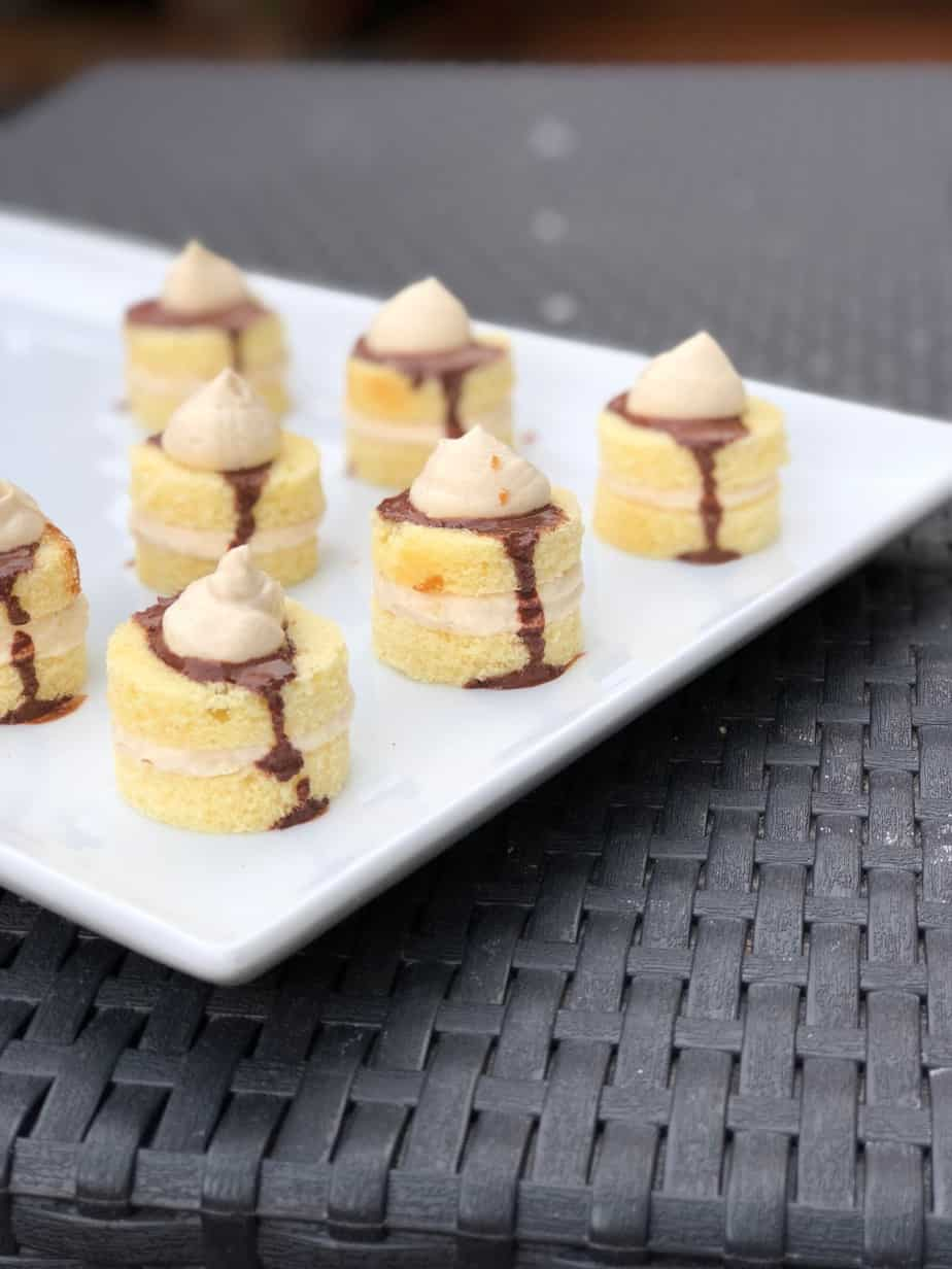Petit fours that are bite sized and finger food worth. Great for parties, showers or weddings.