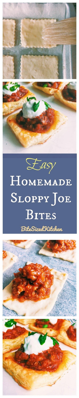 Easy Sloppy Joe Bites