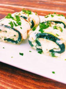 Zucchini Alfredo Mini Roll Ups