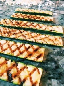 grilled zucchini strips