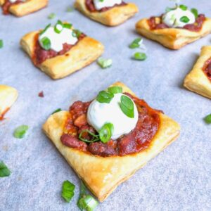 hormel chili appetizer puff pastry squares