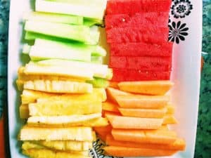 Fruit Sticks With Coconut Yogurt Dip