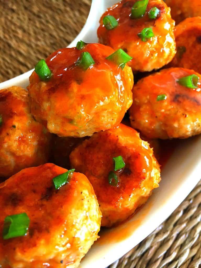 Brown Sugar Buffalo Chicken Meatballs (2)