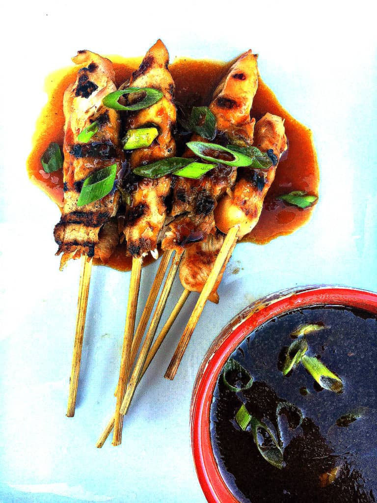 Easy ginger chicken satay skewers perfect for your next party having only 7 ingredients!