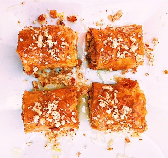 Mini Baklava Rolls With Citrus Honey