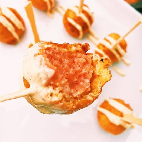 Mini Kielbasa Dijon Corn Dogs Bites Kid Friendly and the Perfect Appetizer