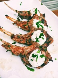 Grilled Lamb Chops With Tzatziki