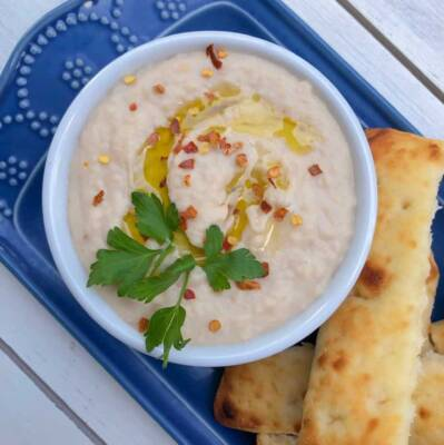 White Cannellini Bean Dip With Garlic