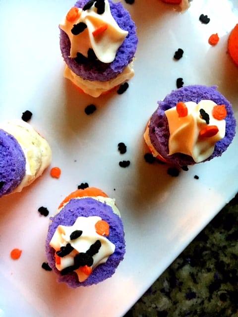 Easy Halloween Mini Cake Stacks