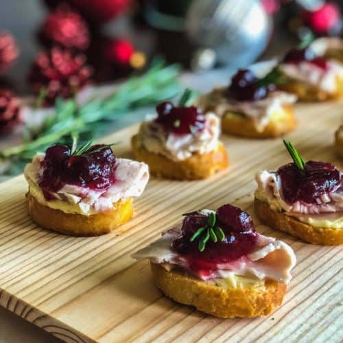 Turkey Cranberry Crostini