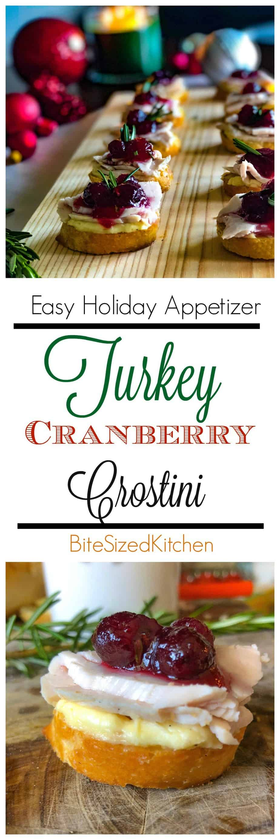 As easy and creative Christmas or Thanksgiving appetizer! Finger foods are great for a crowd and are an elegant make ahead bite size appetizer idea!