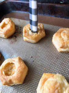 Puff Pastry Breakfast Cups With Honey Dijon Sauce (6)