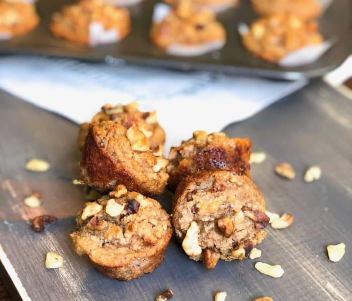 Healthy Grab-and-Go Banana Walnut Muffins
