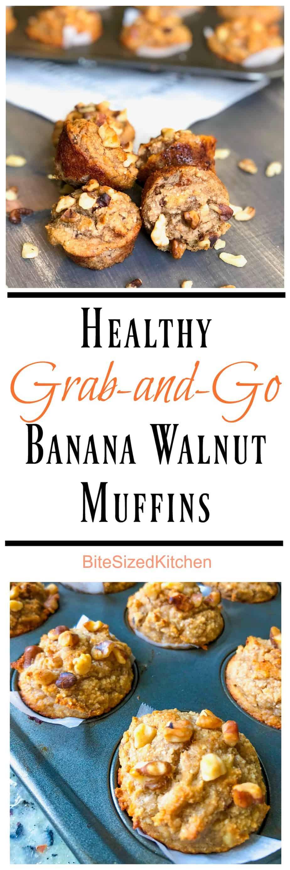 Easy To-Go Breakfast Recipe Healthy Grab-and-Go Banana Walnut Muffins