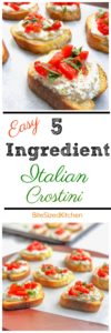 Easy appetizer | Make ahead appetizer | Cold appetizer | Easy Crostini | Cheap appetizer