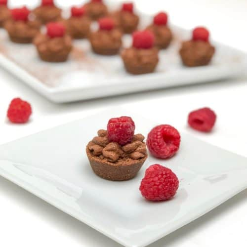 Quick and Easy Chocolate Raspberry Mousse Tartlets Dessert