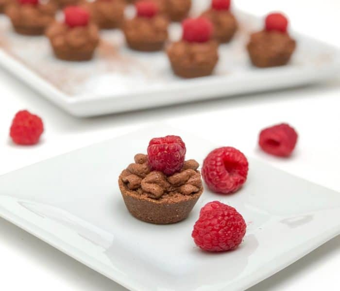 Quick Chocolate Raspberry Mousse Tartlets