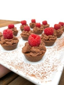 Quick Chocolate Raspberry Mousse Tartlets (5)
