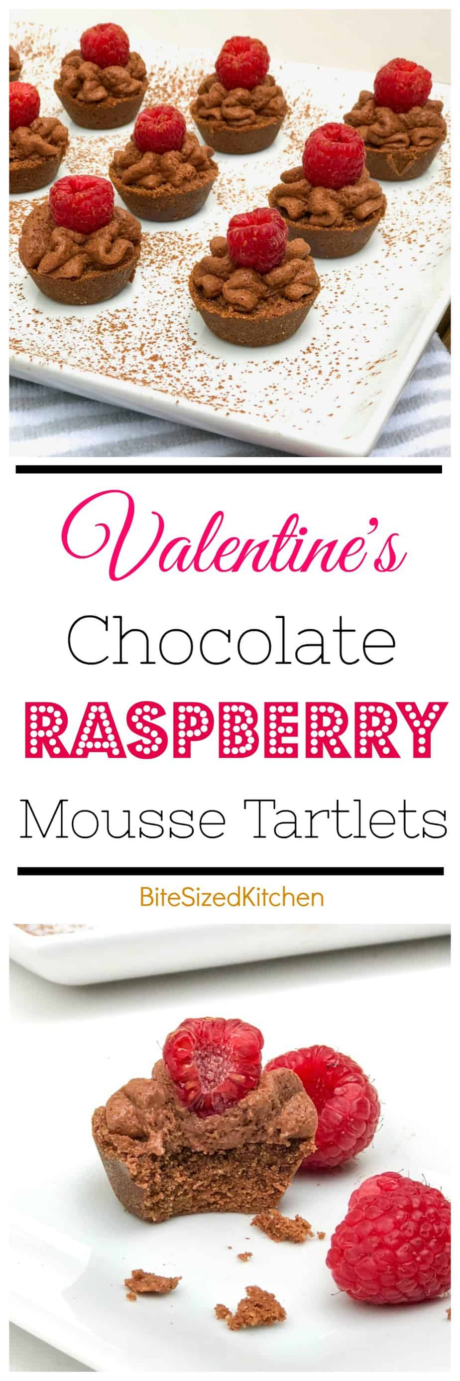 Quick Easy No Bake Chocolate Mousse Dessert Tarts with Raspberry! Perfect Valentine's Day Dessert for Two!