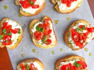 Easy cold crostini recipe
