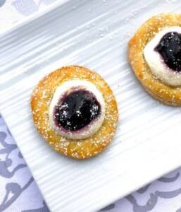 Easy danish recipe using Pillsbury crescent rolls and cream cheese!