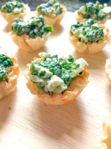 Creamed Spinach and Feta Phyllo Cups (18)