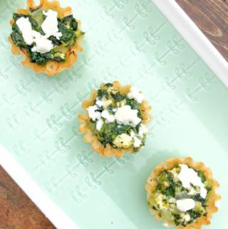 Creamed Spinach and Feta Phyllo Dough Cups