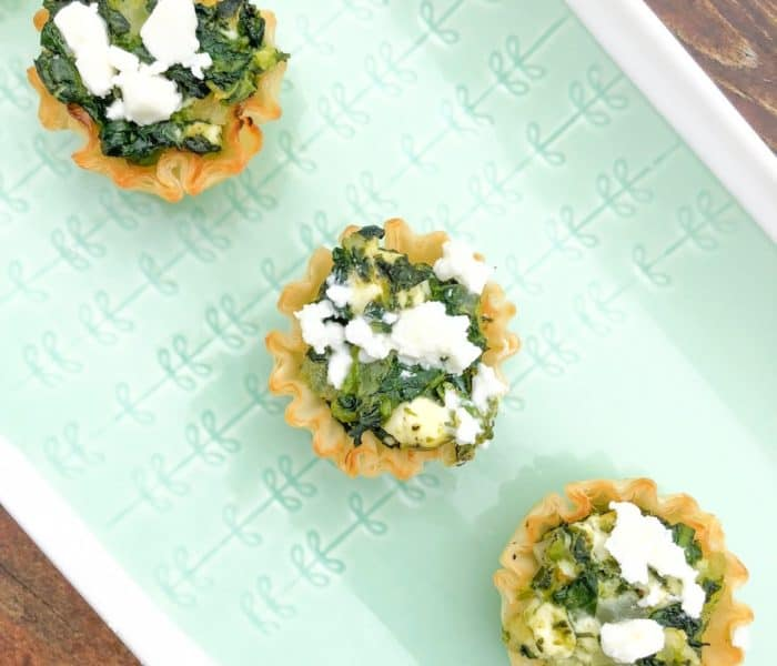 Creamed Spinach and Feta Phyllo Cups