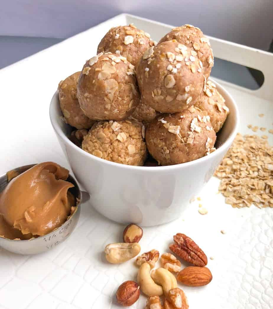 Healthy Peanut Butter Oat Energy Bites without dates
