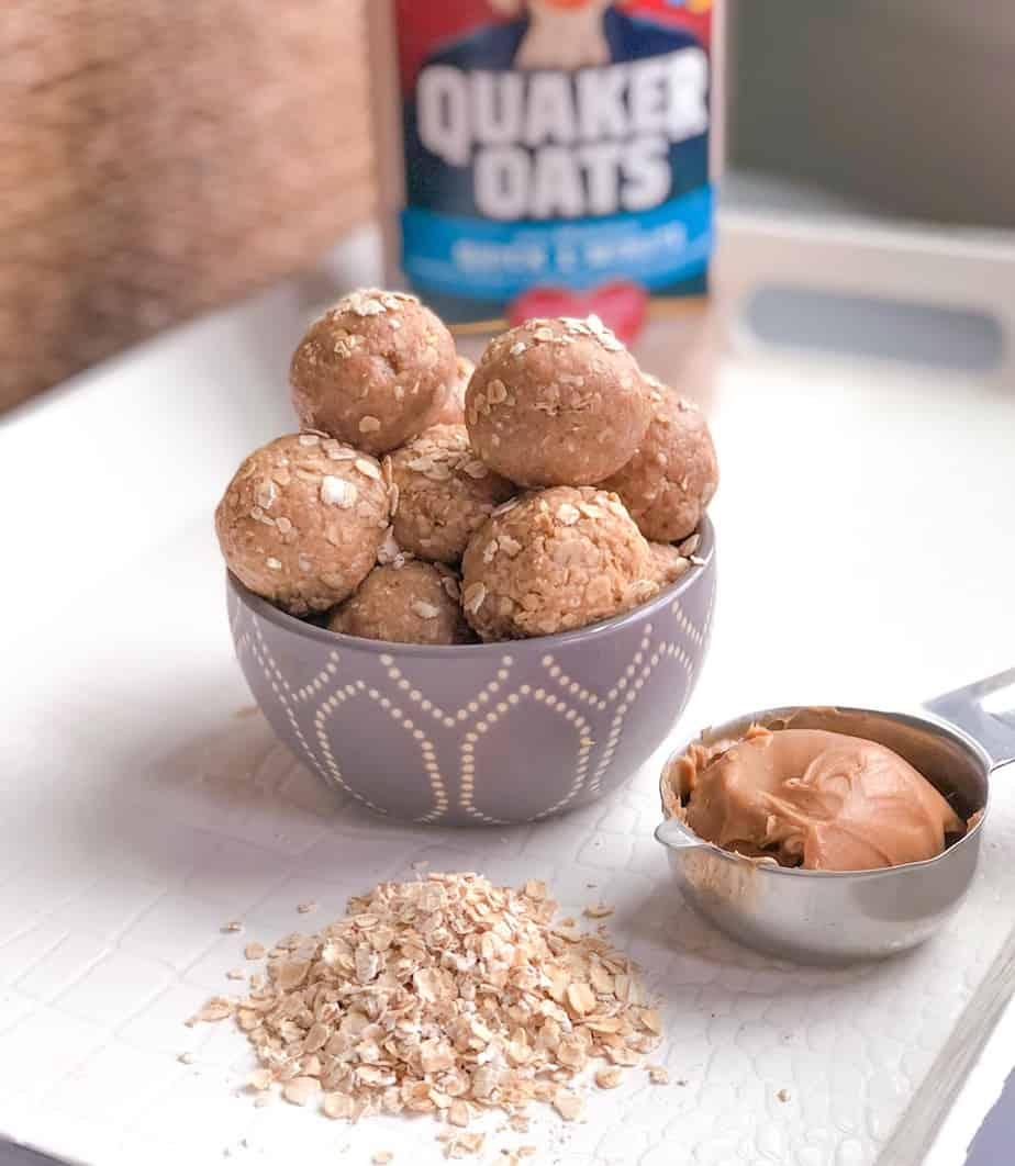 peanut butter protein energy balls without protein powder or dates