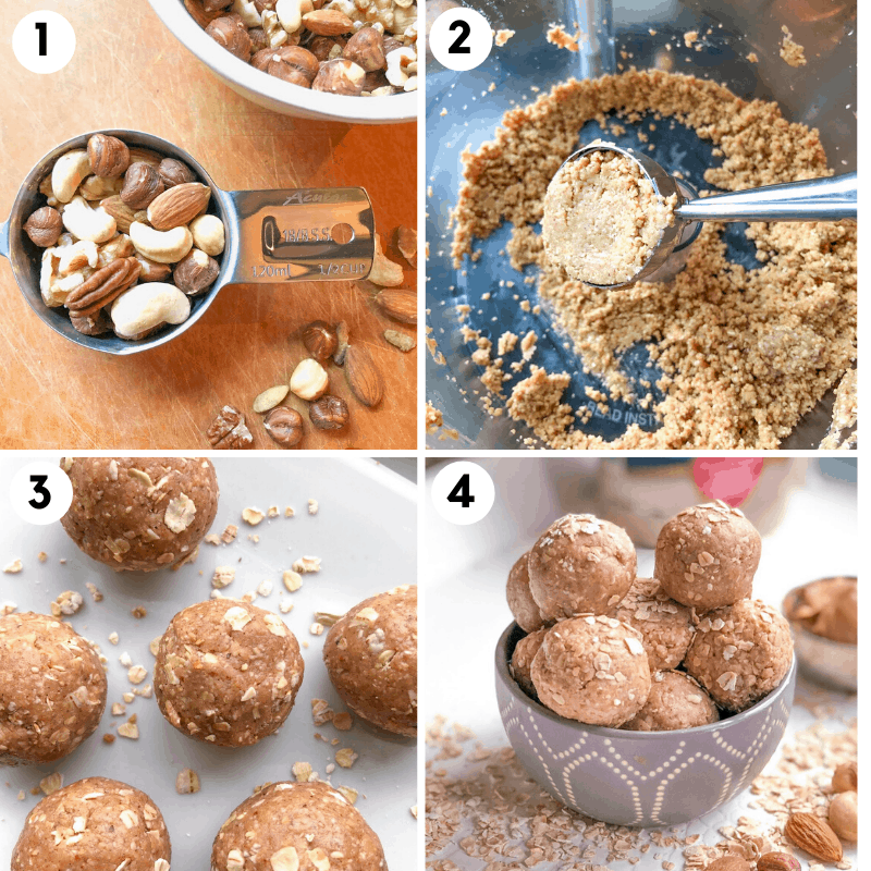 steps for how to make healthy protein balls without protein powder
