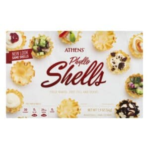 frozen phyllo shells in package