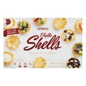 frozen phyllo shells in package