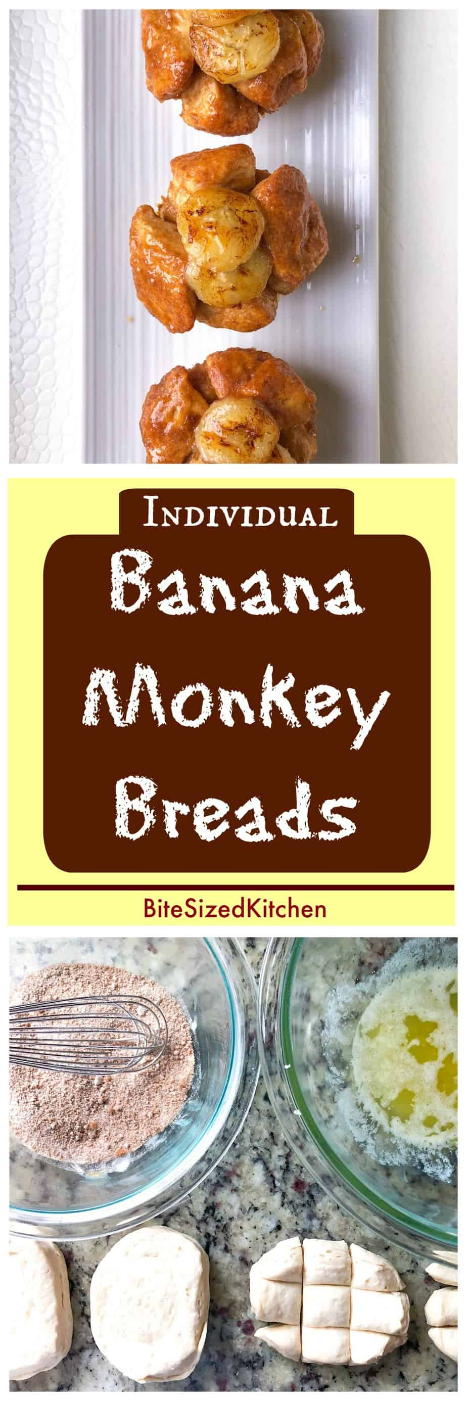 Individual Banana Pudding Monkey BreadIndividual Banana Pudding Monkey Bread