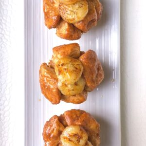 monkey bread muffins on a white plate