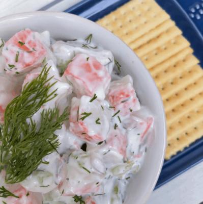 Healthy Imitation Crab Meat Salad