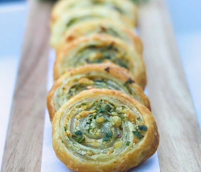 Puff Pastry Garlic n' Herb Pinwheels