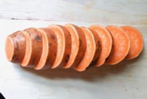 Buffalo Chicken Sweet Potato Rounds (