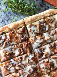 Caramalized Onion and Mushroom Flatbread