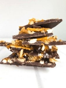 Salted Dark Chocolate Snack Bark