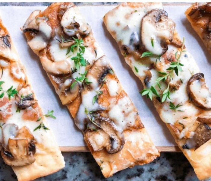 Caramelized Onion and Mushroom Flatbread