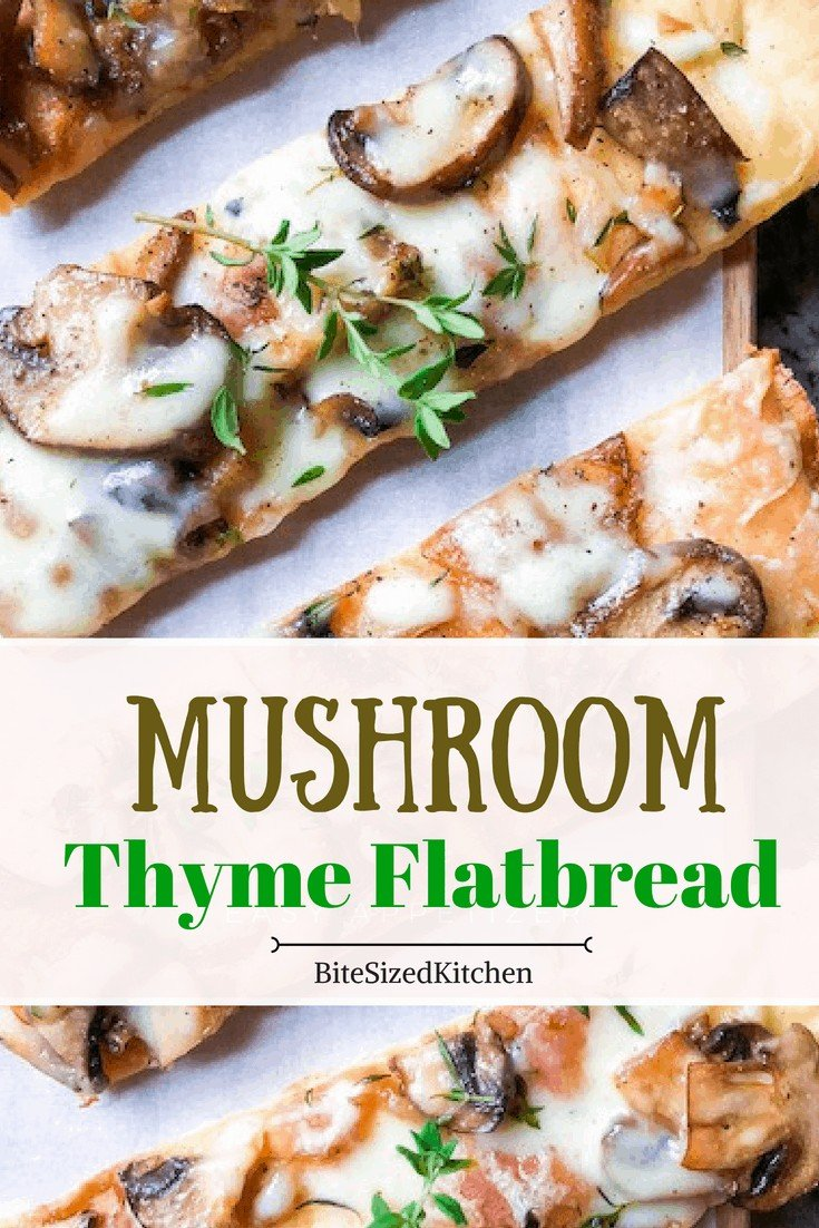 This flatbread appetizer is ideal for parties or entertaining! A simple vegetarian pizza recipe that can be served to any crowd!