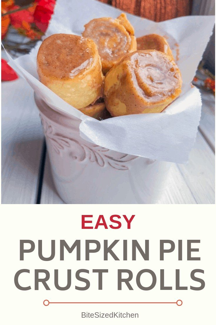 An easy, quick Pillsbury pie crust dessert! Such a great idea for a quick pumpkin treat using pre made, store bought refrigerated pie dough! A fun bite sized treat for a fall party or a crowd! #pillsbury #piecrust #pumpkin #pie #fall
