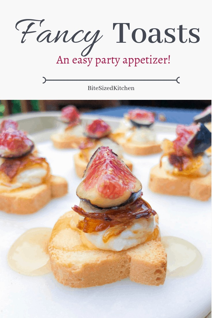 An easy gourmet make ahead canapes recipe! A great ideas perfect for a party or wedding. Vegetarian and made with French brie! A fancy appetizer that can also be served cold!
